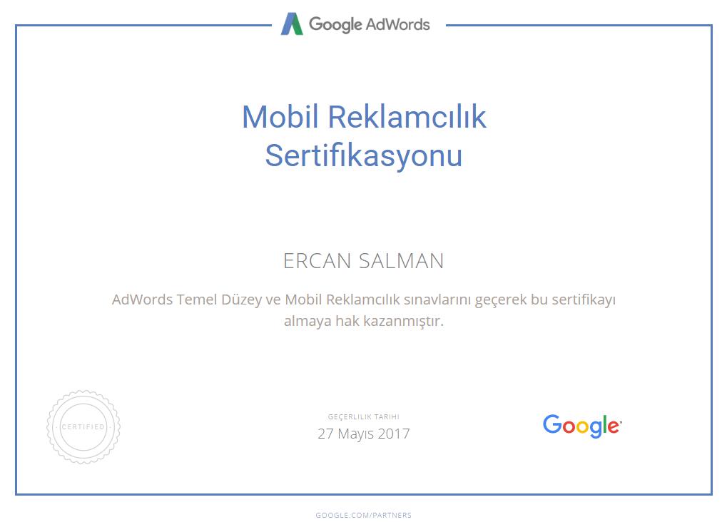 Mobil Reklamcılık Sertifikası